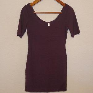 Xhilaration dark purple dress sz L